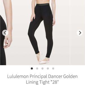 "Lululemon principal dancer tight 28"" 4 black"